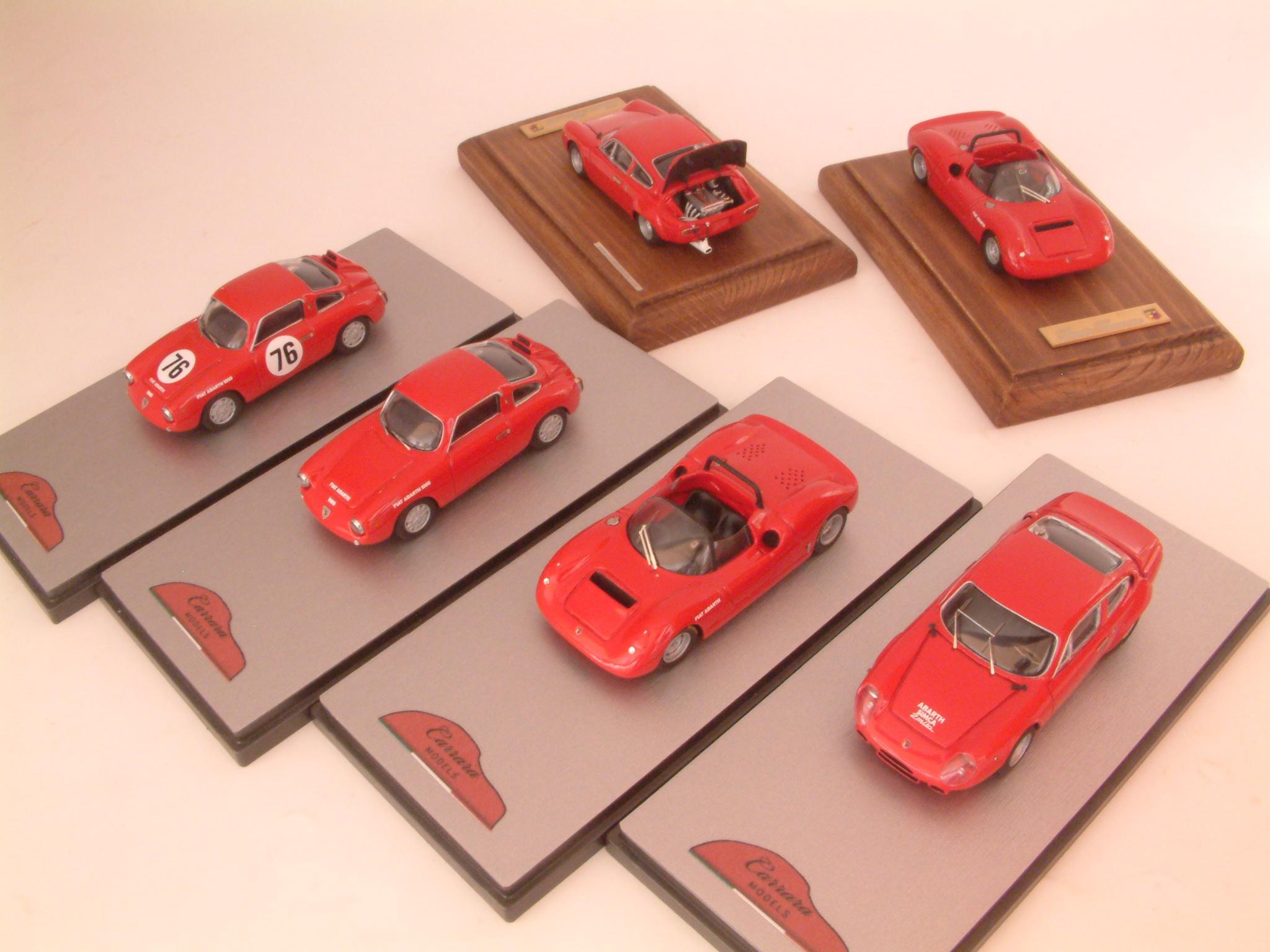 -Simca Abarth 2000 GT Corsa 1964 -Fiat Abarth 1300 SP Spider Tubolare 1966 -Fiat Abarth 1000 Bialbero 1960 -Fiat Abarth 1000 Bialbero #76 6 ore D'Auvergne 1961 Jean Guichet