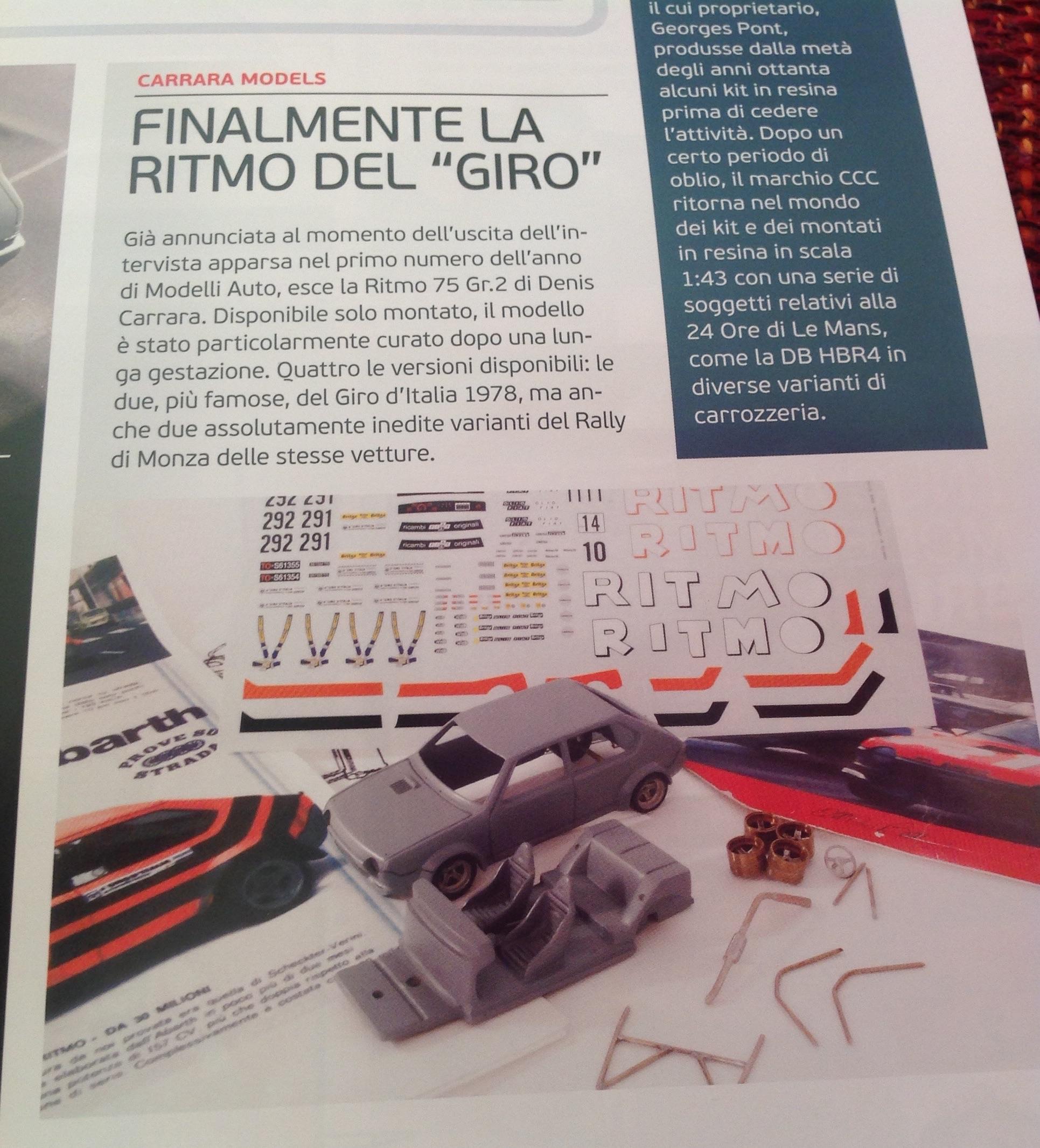 Fiat Abarth Ritmo giro d'Italia e Rally di Monza 1978