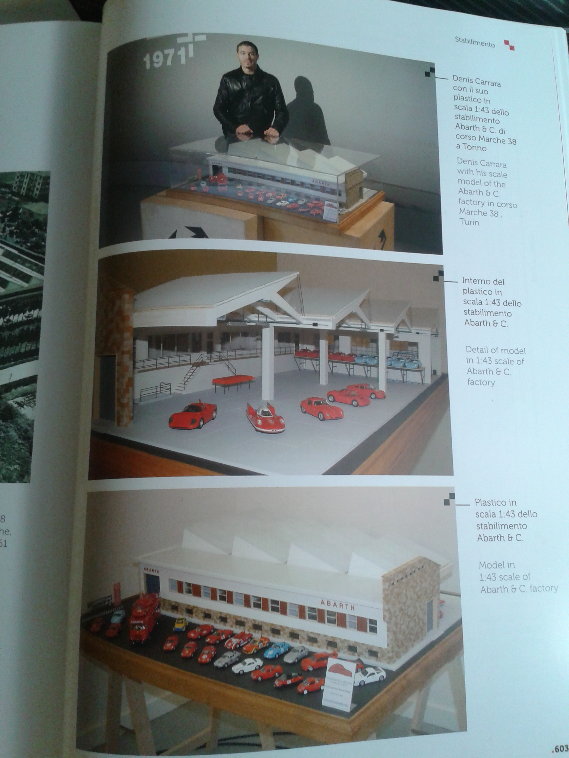 Diorama Stabilimento Abarth in scala 1:43 by Carrara Models
