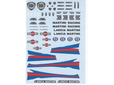 Decal Lancia 037 Abarth Martini Racing - scala 1:43