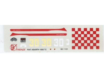 Decal Fiat 600 Abarth 1000 TC # 30 4h di Monza 1966 - scala 1:43