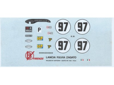 Decal Lancia Fulvia Zagato #97 Daytona 1969 - scala 1:43