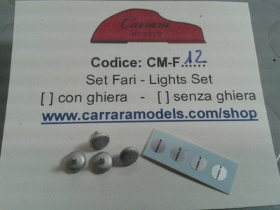 CM-F12 n° 4 Fari supplementari di 5 mm con decals carello