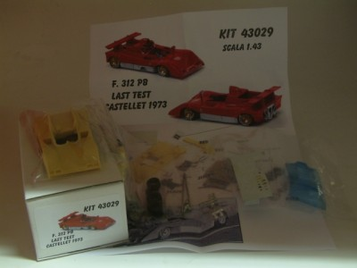 Kit Ferrari 312 PB Last Test Castellet 1973 Resin Kit 1:43