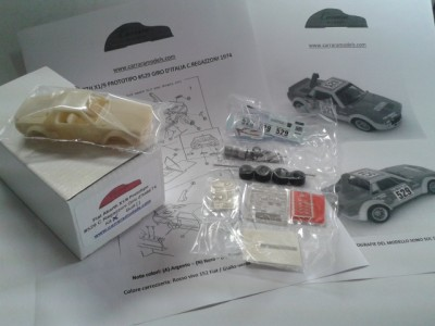 Kit Fiat Abarth X1/9 Prototipo #529 Giro Automobilistico d'Italia 1974 Clay Regazzoni - Resin Kit 1:43