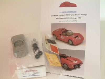 Kit Fiat Abarth 2000 SP #424 Campionato della Montagna 1966 - Resin Kit 1:43