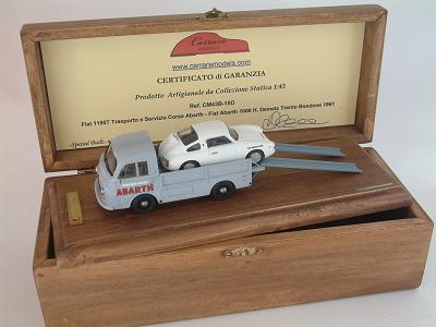 Fiat 1100T Trasporto e Servizio Corse Abarth + 1000 Bialbero H. Demetz Trento Bondone 1961 - Special Built 1:43
