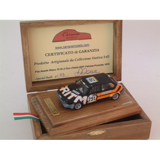 Fiat Abarth Ritmo 75 Gr 2 #291 Patrese / Pozzetto Giro d'italia 1978 - Special Built 1:43