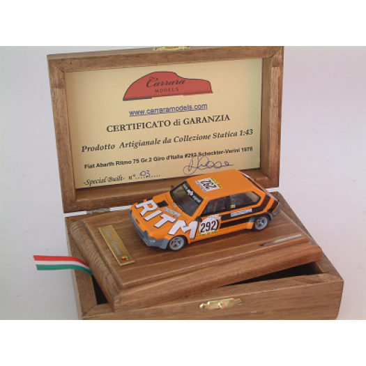 Fiat Abarth Ritmo 75 Gr 2 #292 Scheckter / Verini giro d'italia 1978 - Special Built 1:43