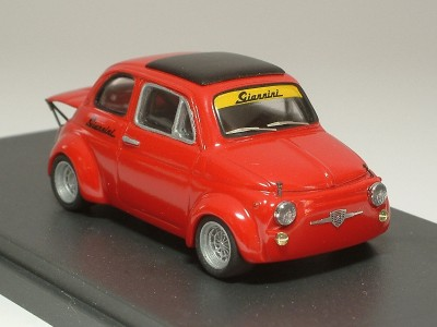 Fiat 500 Giannini 590 GT assetto corsa 1969 rosso - Standard Built 1:43
